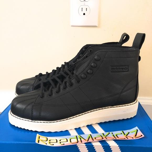 adidas Shoes | Adidas Superstar Boots Black Womens Sizes | Poshmark
